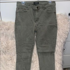 Express Army Green Jeggings
